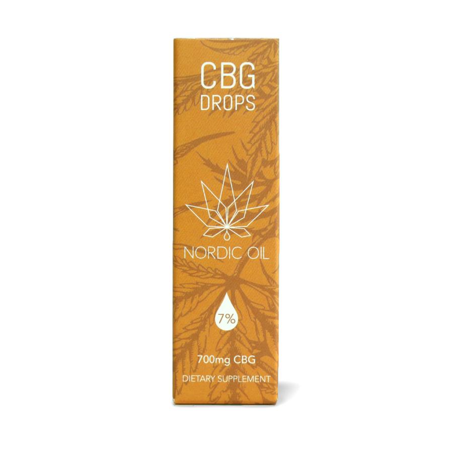 CBG olie fra Nordic Oil i emballage