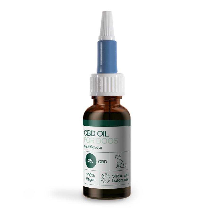 CBD olie til hunde (4%) med okse aroma